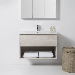 Soft 900 Wall-Hung Vanity 1 Drawer, 1 Open Shelf