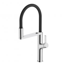 Galaxy Sensor Kitchen Mixer - Chrome & Black
