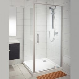 Soul Tiled Wall Showers - Corner Waste, White