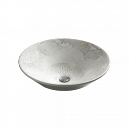 Kohler Empress Bouquet on Conical Bell Vessel Basin