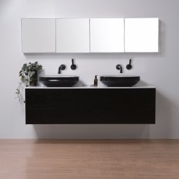 Moode 1800 Wall-Hung vanity, Double Bowl, 4 Drawers