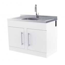 Robinhood Supertub New Workstation, Stainless Steel Gooseneck Tap