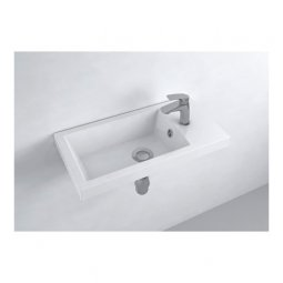 Newtech Pietro 504 Wall Mounted WC Basin - Gloss White