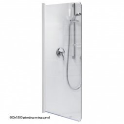 Standard Shower Over Bath Pivoting Swing Panel 900x1500