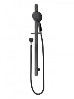 Eclipse Round 1F Slide Shower - Matte Black