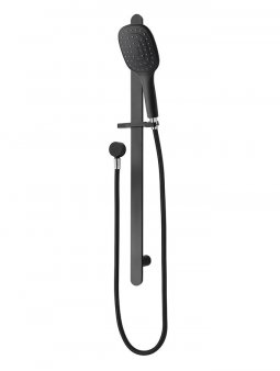 Eclipse Square 1F Slide Shower - Matte Black