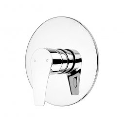 Ecomix Vortex Shower Mixer with Jumbo Faceplate - Chrome