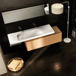 Grandangolo Box Package - 800 Cabinet, 1300 Basin and Towel Holder