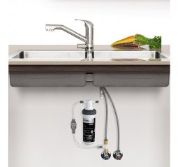 Quick Twist Undersink Water Filter using Ultra Z Filtration Technology with Tripla T2 LED Mixer Tap