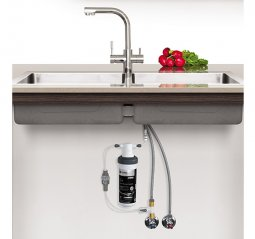 Quick Twist Undersink Water Filter using Ultra Z Filtration Technology with Tripla T3 LED Mixer Tap