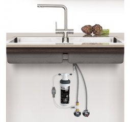 Quick Twist Undersink Water Filter using Ultra Z Filtration Technology with Tripla T6 LED Mixer Tap