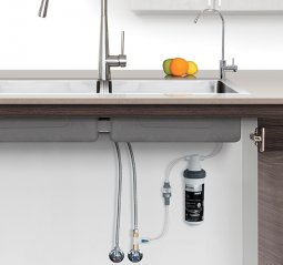 Quick Twist Undersink Water Filter System with DFU180 Faucet