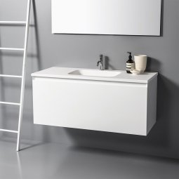 Zero 1200 Wall-Hung Vanity, 1 Drawer + 1 Concealed Drawer