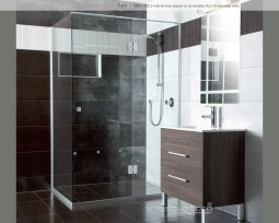 Linea Quattro Showers - 2 Wall - Hinged