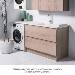 1200 Laundry Cabinet - 2 Drawers