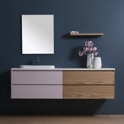 Moode 1500 Wall-Hung vanity, 4 Drawers