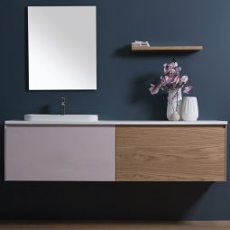 Moode 1800 Wall-Hung vanity, 2 Drawers (side by side)