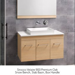 Sirocco Velaire Vanities Wall Hung 1500