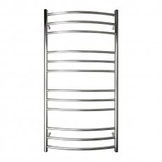 Manhattan Curved Round Heated Towel Rail 12 Bar 1180h x 620w mm