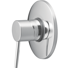 Minimalist Shower Mixer with Fastflow II - Chrome