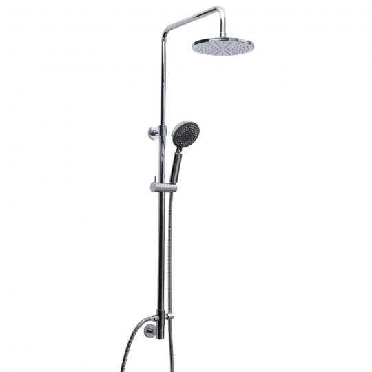 progetto tube shower column with 200mm round on sale. Black Bedroom Furniture Sets. Home Design Ideas