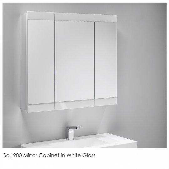 soji mirror cabinet 900mm - Bathroom Cabinets Nz