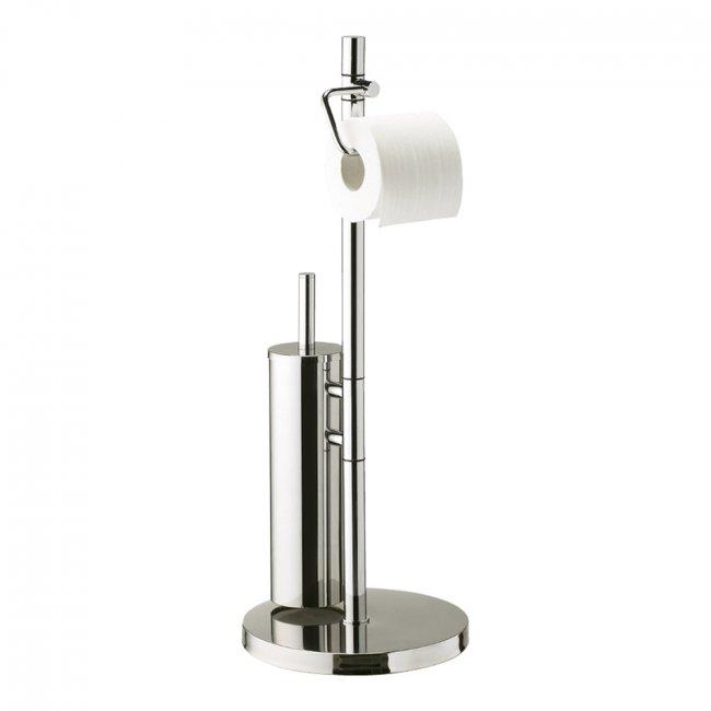 Progetto Tube Freestanding Toilet Roll Holder And Toilet Brush