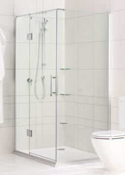 Black Pearl Showers with Hinged Door