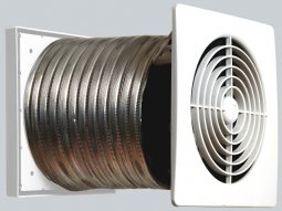 Manrose Pro-Series XPLP Low Profile Fan -Thru Wall Kit