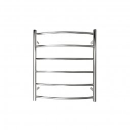 Manhattan Curved Round Heated Towel Rail 6 Bar 700h x 620w mm