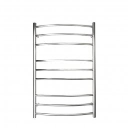 Manhattan Curved Round Heated Towel Rail 9 Bar 940h x 620w mm