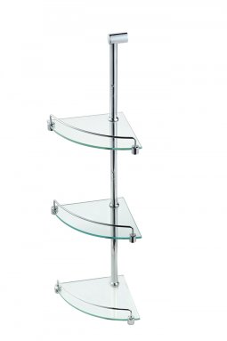 Universal Corner Glass Shelf - Triple